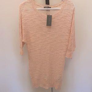 Suzy Shier Dolma Sleeve Light Pink Sweater